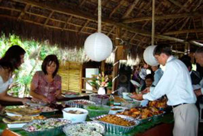 Bar and restaurant in the jungle lodge